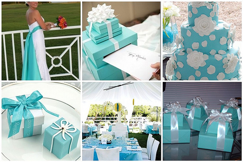 Tiffany Blue Wedding Card Box