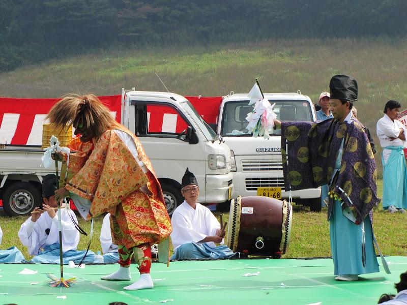 Rural harvest festival in Kyushu
