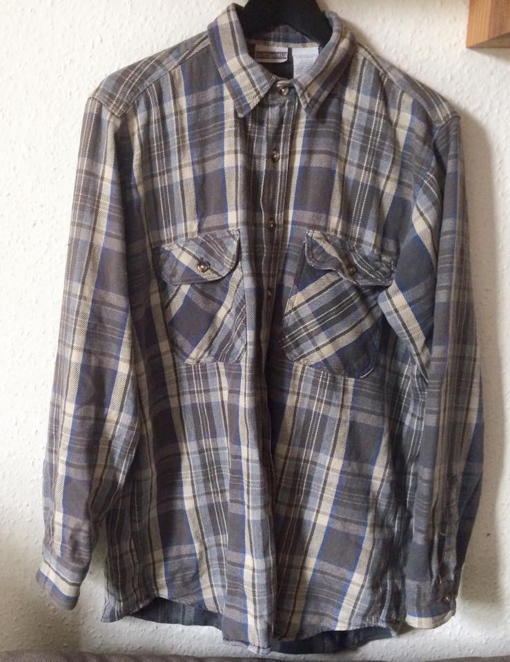 Vintage retro checked flannel shirt, Rokit, menswear, fashion blogger
