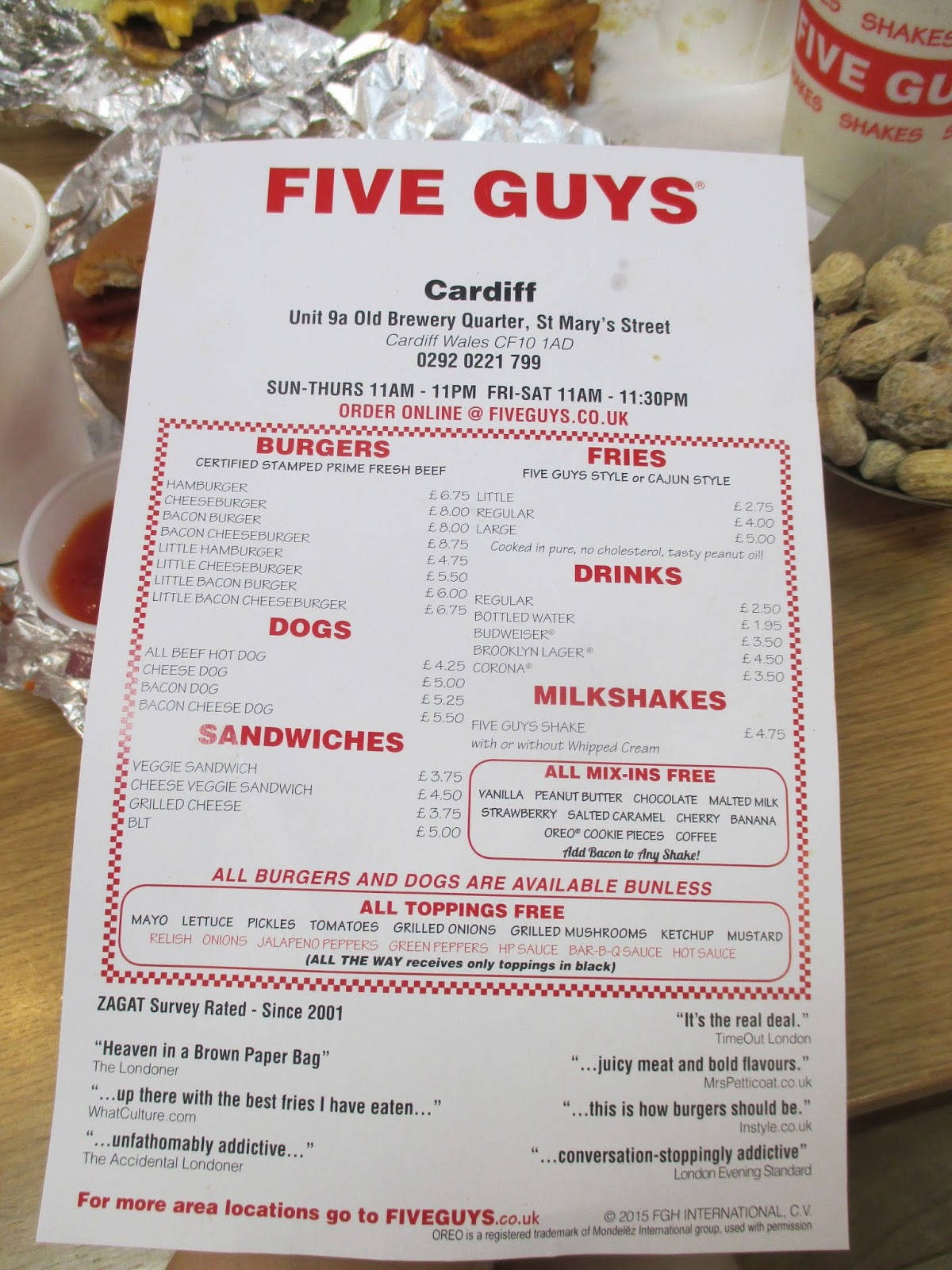 an analysis of five guys Free research that covers determine how five guys' philosophy sets it apart from other fast-food chains the difference in the strategy adopted by five guys burger and fast food chains i.