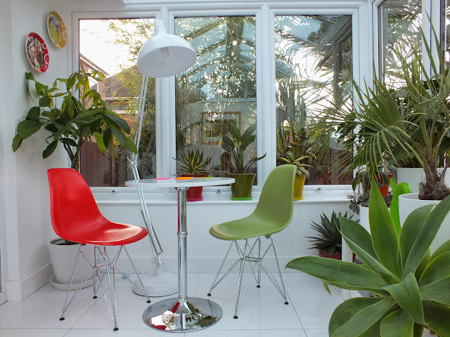 Eames Chairs in our Conservatory