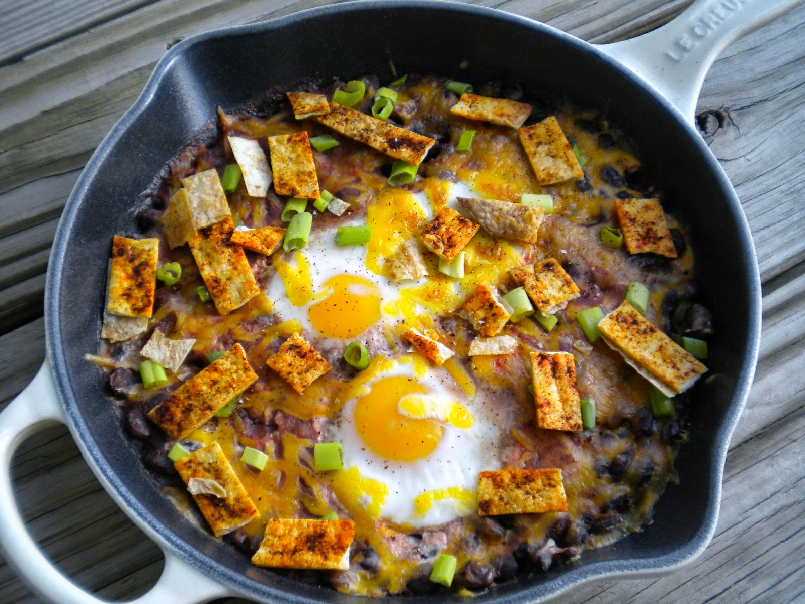 Spicy Black Bean Ranchero Eggs  I  Love.Bake.Read