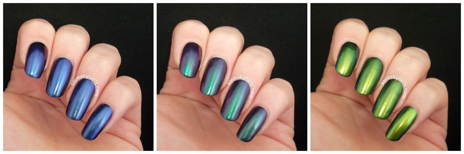 Doctor Lacquer Chromozones; The Smoke that Thunders, The Dance of the Spirits and The World of the Coral Sea swatches and review | Squeaky Nails