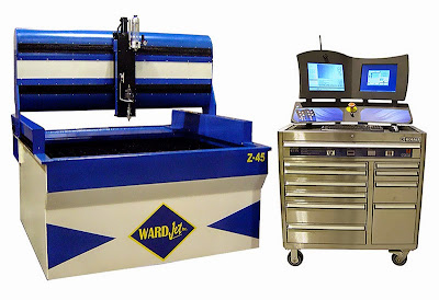 WARDJet's ZX-45 with standard 2D cutting head and X-Classic controller.