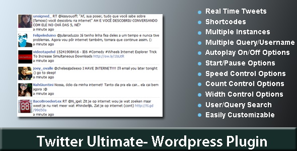 CodeCanyon - Twitter Ultimate-Wordpress Plugin