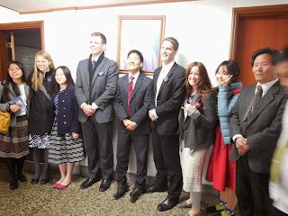group of missionaries and random ward members :)