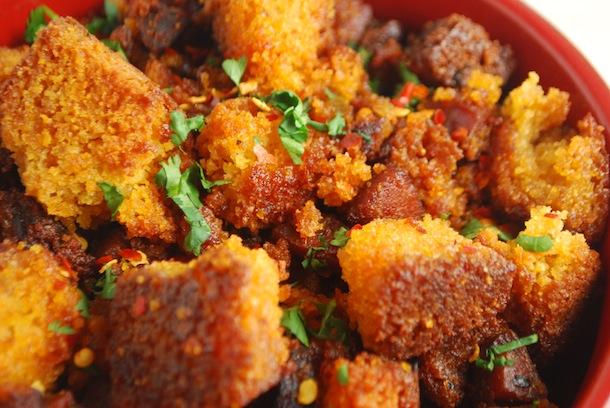 Spicy Cornbread & Chorizo Stuffing | Always Order Dessert