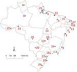 Quais as capitais no mapa do Brasil