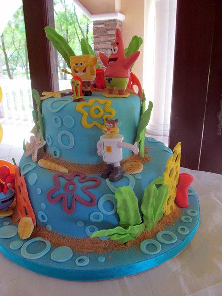 Biba Party Shop: Baby John s Spongebob Squarepants Cake
