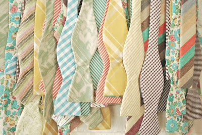 vintage pastel bow ties