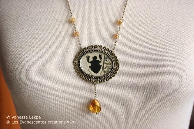 collier magique esoterique piece unique sorcière bijoux fait main samhain