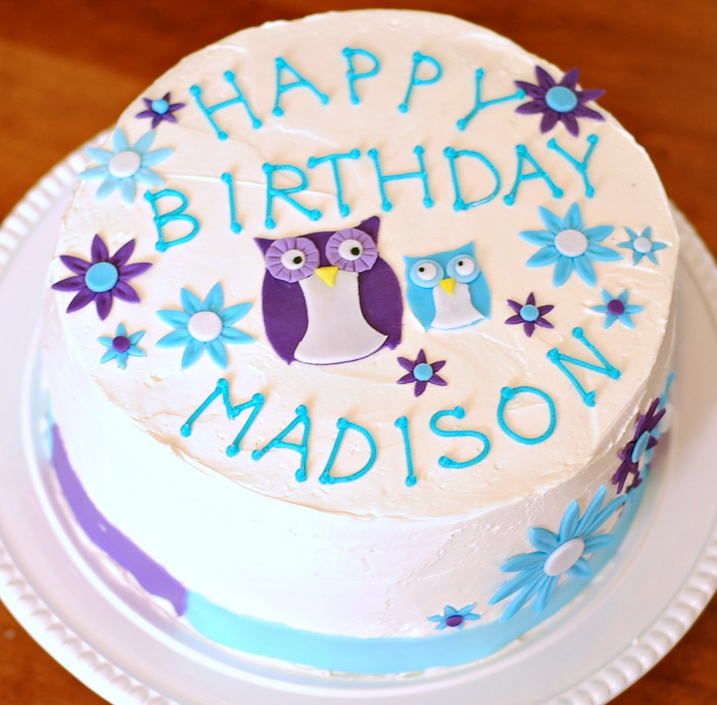 Owl Cake And Using Greeting Cards For Design Inspiration