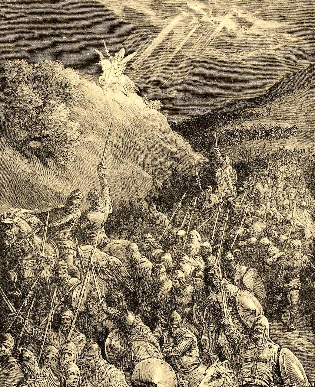 Aparição de São Jorge sobre Monte das Oliveiras, Gustave Doré (1832 — 1883)