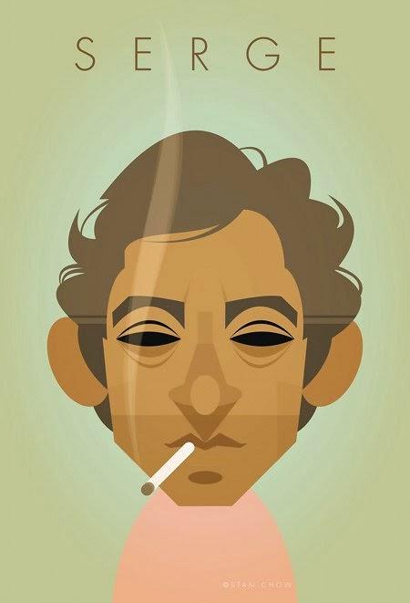Ilustración de Stanley Chow de Serge Gainsbourg