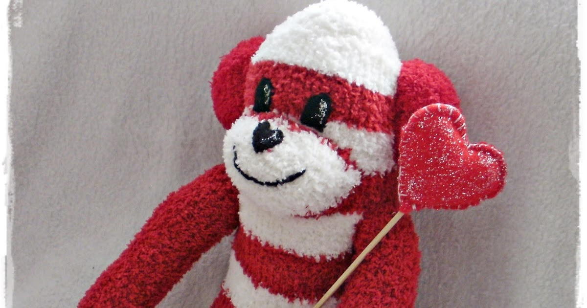 Handcrafted By Picto Valentine Sock Monkeys