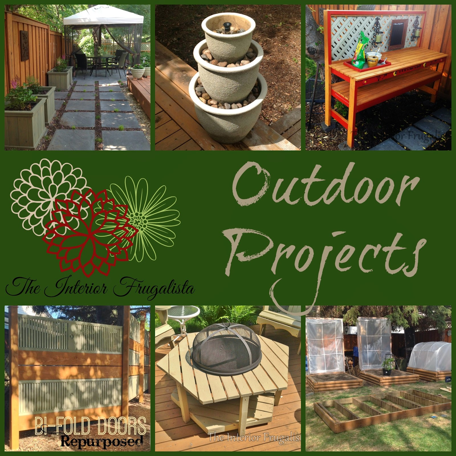 Touring Through Blogland a collage of outdoor projects