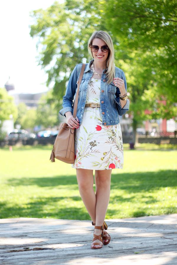 Zara Heeled Sandals, Old Navy Bucket Bag, Fidelity Denim Ryder Jacket