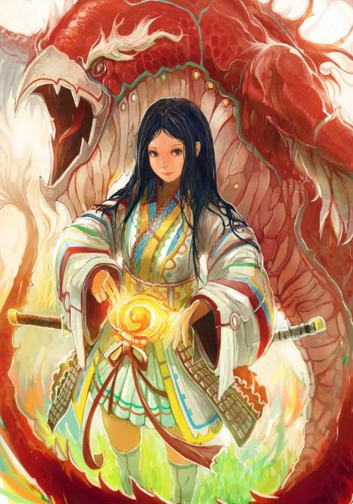Gilang Andrian alchemaniac deviantart illustrations fantasy science fiction anime Suzaku