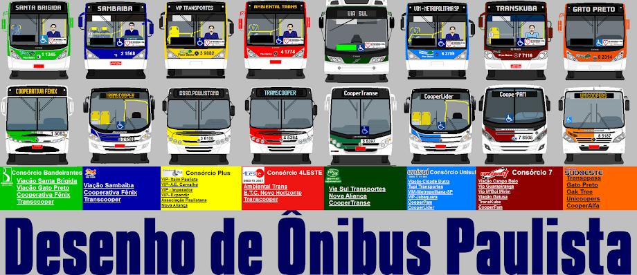 Desenho de Ônibus Paulista