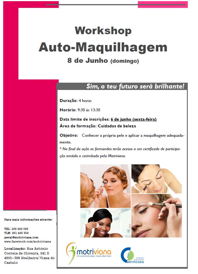 Workshop de auto maquilhagem em Viana do Castelo