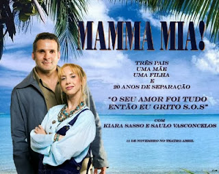 "Cartaz ""Mamma Mia"""