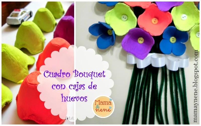 Cuadro bouquet con cajas de huevos | Mamá&nené - Maternidad y ...