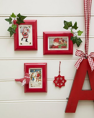 prudence design spot decorating with cards and thrift frames