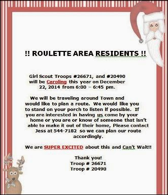 12-22 Roulette Girl Scout Caroling