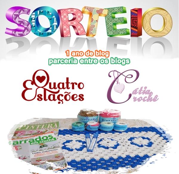 Primeiro sorteio parceria entre blogs quatro Estações e Cátia crochê