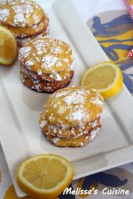 Melissa's Cuisine: Lemon Crinkle Cookies