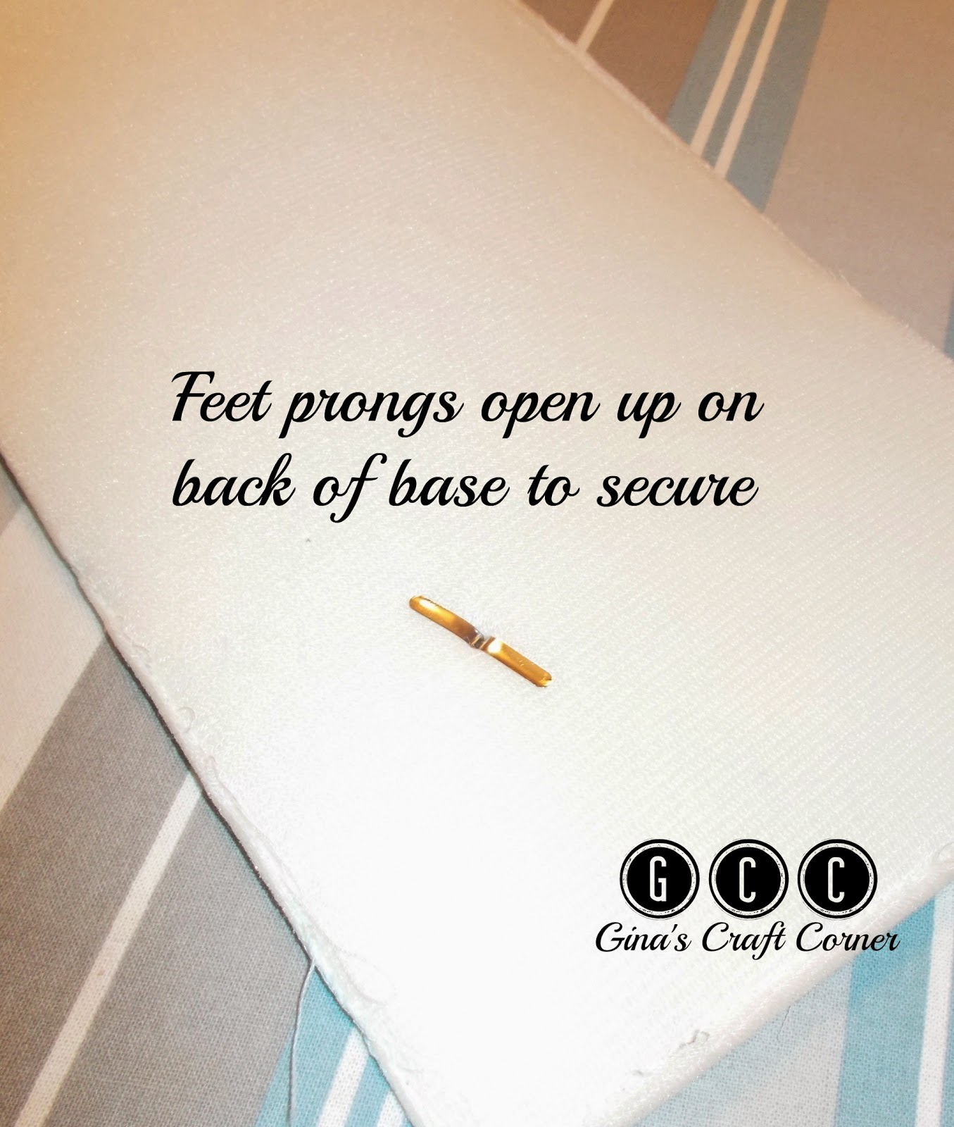 How to add purse feet to handbags by GCC (Gina's Craft Corner)