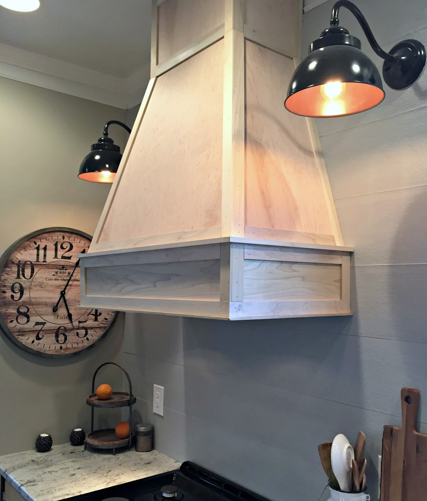 Wood Chimney Hoods ~ A diy ish wood vent hood from thrifty decor chick