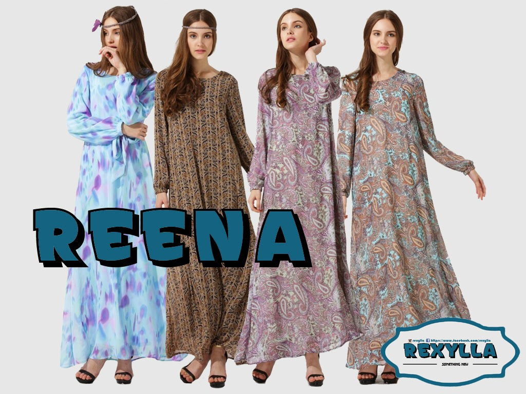rexylla, maxi dress, printed dress, reena collection