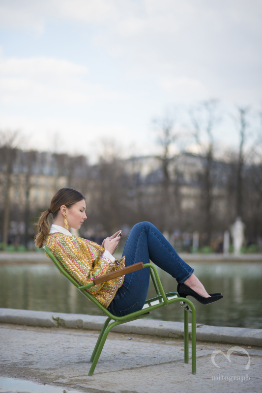 Angelica Ardasheva at Palais des Tuileries during Paris Fashion Week 2014 Fall Winter PFW Season