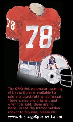 New England Patriots 1971 uniform