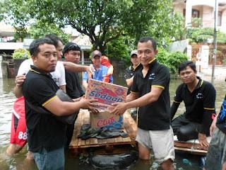 Pagana beraksi membantu Korban Banjir di Jakarta