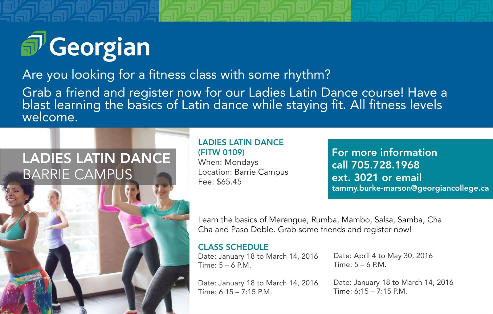 Ladies Latin Classes in Barrie