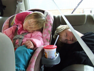 Sierra and Harmony crashed out in the car