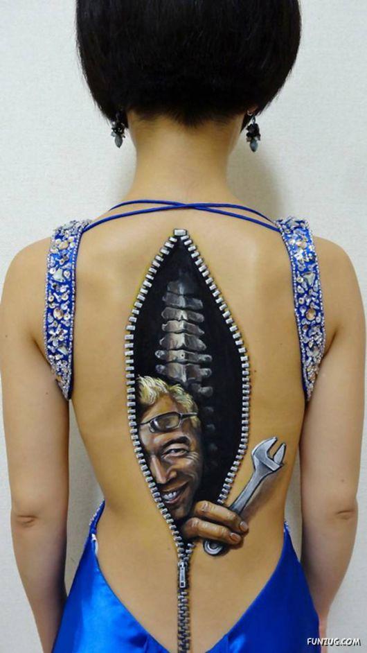 3D B Initials Tattoos