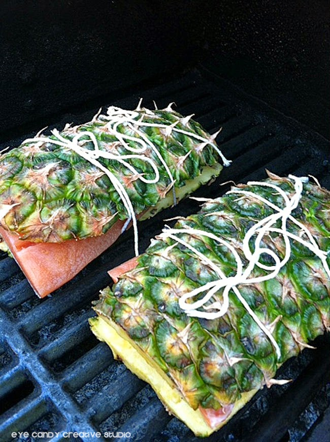 salmon steaks, pineapple, grilling salmon, summertime grilling