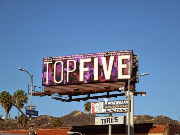Top Five movie billboard