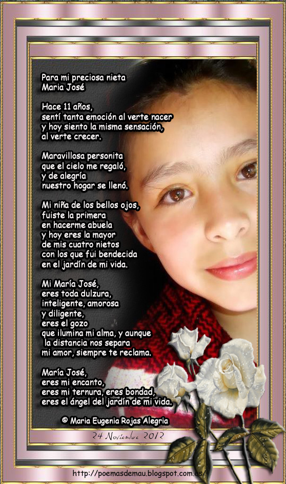Frases de Mau: Poema para mi nieta Maria Jose López Gutierrez