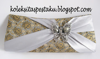 Produksi Songket Sari India Handmade Tas Pesta Grosir