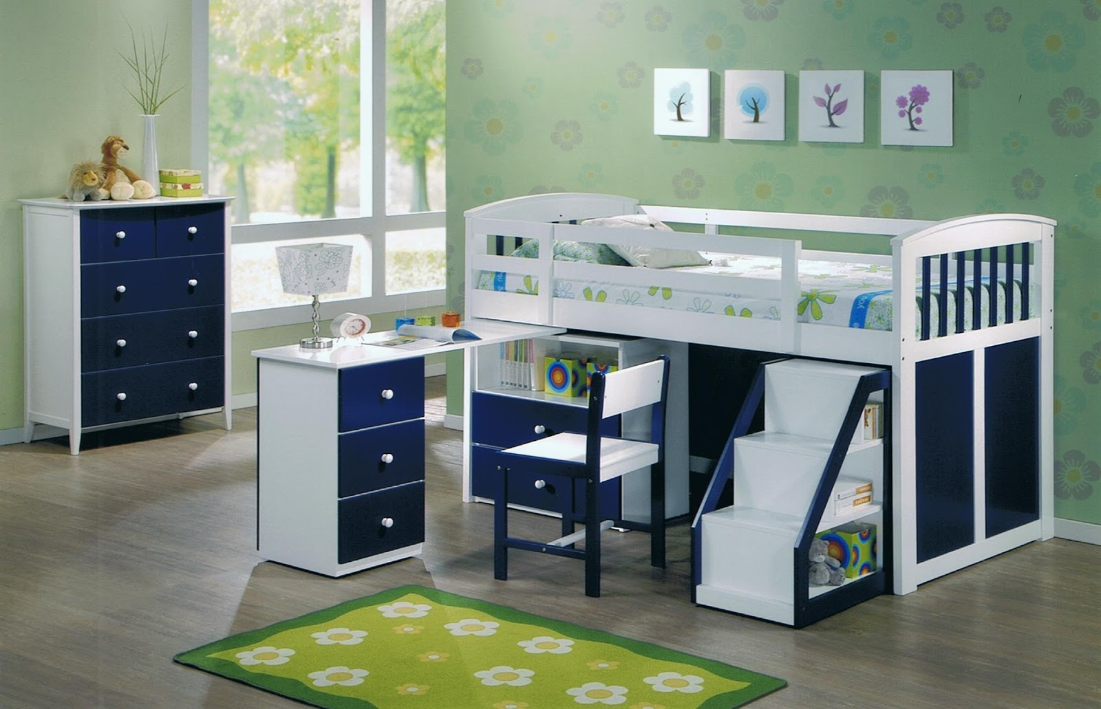 Cute ideas for decorating small bedrooms or studio type for Junior room decor ideas