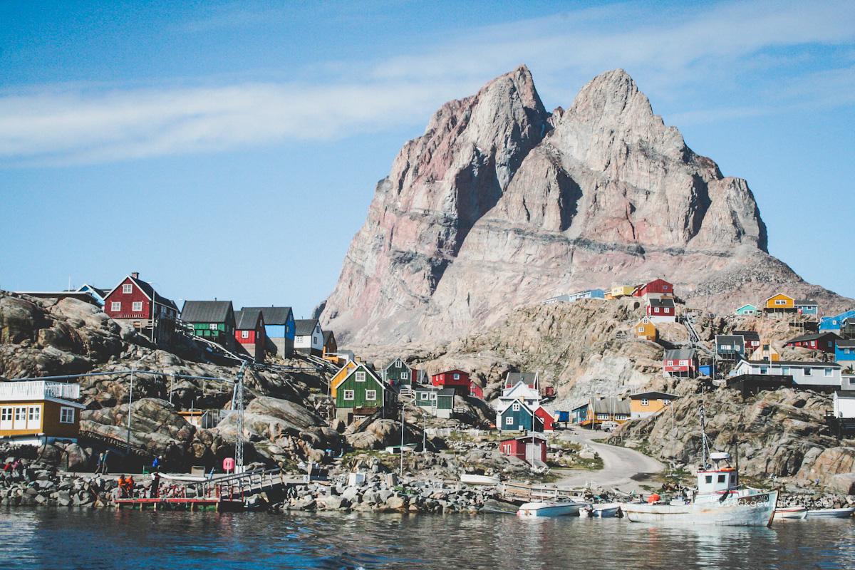 Dorfansicht Uummannaq in Grönland