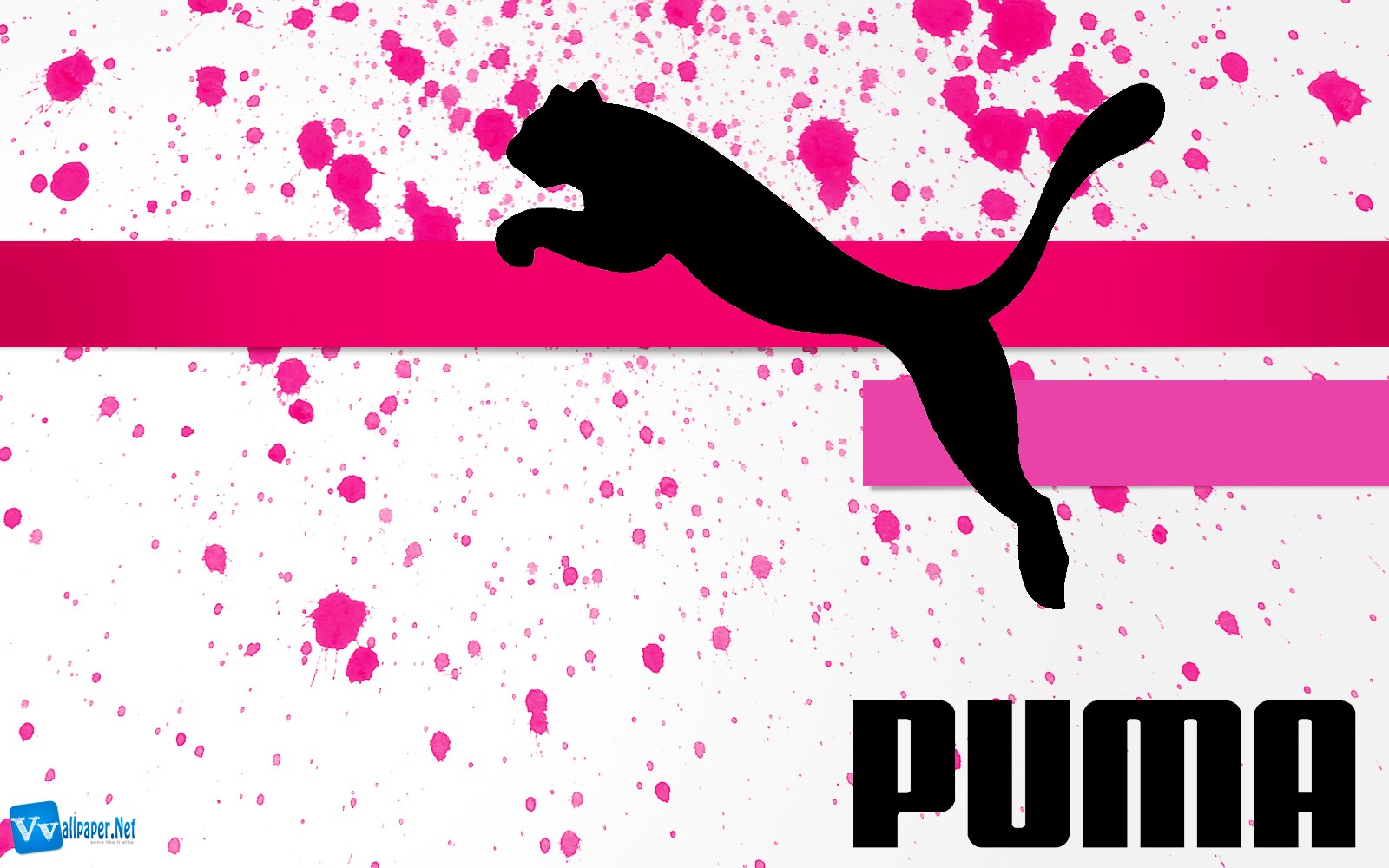 Puma Logo Original Brand Design Paint Splash Wallpaper