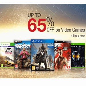 Buy  Video Games at upto 90% off at Amazon : BuyToEarn