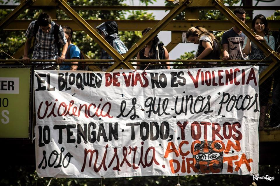 El bloqueo de vias no es violencia!!!!!