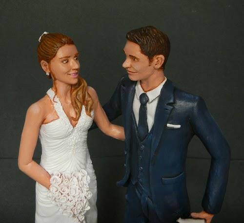 statuine sposi personalizzate cake topper artistici ritratti viso artigianato orme magiche