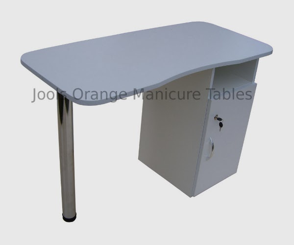 Jools orange manicure tables nail furniture beauty for Table for beauty salon